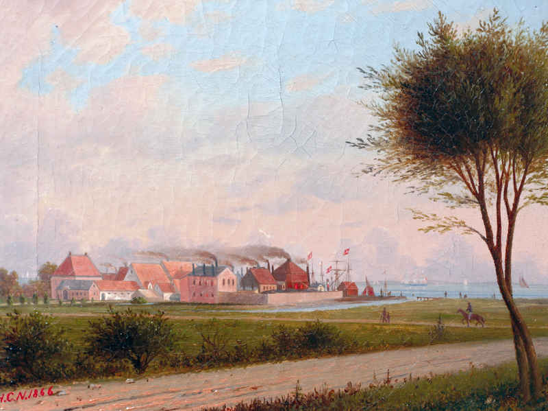 Kastrup Værk 1866. Affotografering Erik Housted. Privateje.